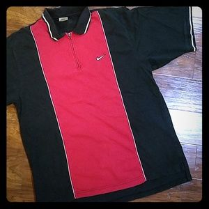 Vintage Nike quarter zip up polo large